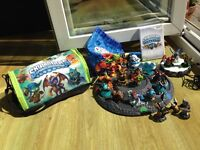 Wii Skylanders Spyros Adventure game, portal and bags