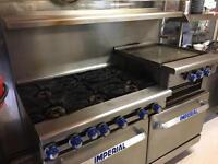 Imperial 6 burner Commercial Gas Oven