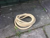 Rope 6.85 m length 3 cm diameter