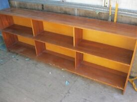 VINTAGE LONG SHELVES - VERSATILE IN USAGE & LOCATION. VIEWING/DELIVERY AVAILABLE