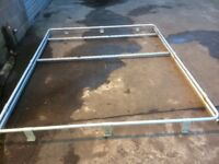 Motorhome roof rack and ladder