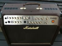 Marshall AS100D Acoustic guitar amplifier with effects.