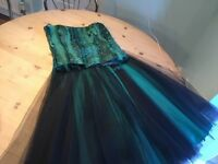 Green bodice and skirt. Size 10