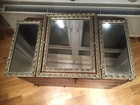 Antique Fold Out Mirror! Heavy!!