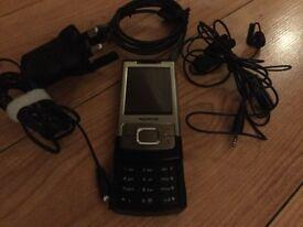 Nokia 6500 slide silver 3G mobile phone
