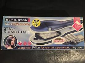 REMINGTON STEAM HAIR STRAIGHTENERS WITH EXTRA ATTACHMENTS