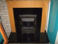 """for sale fire surround &fire,large mirror,32""""flat screen tv,two lamps,all £150"""