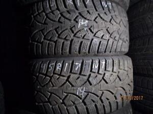 225/45R17  SET OF 4 USED GENERAL WINTER TIRES