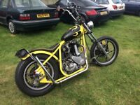 BSA B33 500cc chopper, 12volt electrics and electric start, historic vehicle