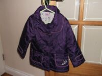 girls coat by f+f, for ages 2-3 years