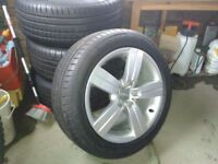 Set of 4 Audi TT Alloy Wheels and Tyres. (2007 to 2010). Fantastic condition