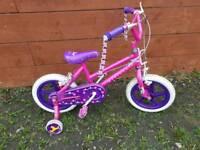 Girls princess bike with stabilizers £10