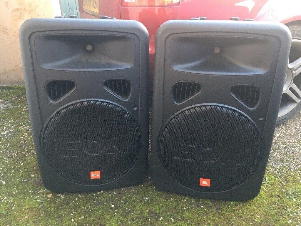 JBL EON G2 powered PA speakers