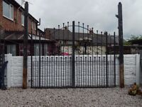 Wrought iron gates / Driveway gates / Garden gates . metal gates / steel gates / double house gates