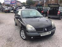 05 RENAULT CLIO EXTREME 1.2 PETROL IN BLACK *PX WELCOME* MOT TILL FEBRUARY 2018 £495