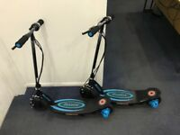 2 x Electric scooter Razor Power Core E100 Blue & black BRAND NEW