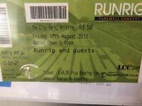 Runrig ticket - farewell concert Stirling