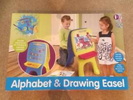 Alphabet and drawing easel