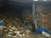 Seasoned mixed wood logs for sale barn stored air dried free delivery and stacking available