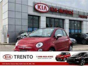 2012 Fiat 500 Lounge/RED Leather/Sunroof/Low Km/One Owner/