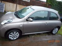 Nissan micra acenta plus, automatic, very low miles