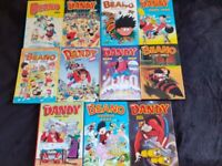 11 Dandy and Beano annuals. Great condition.