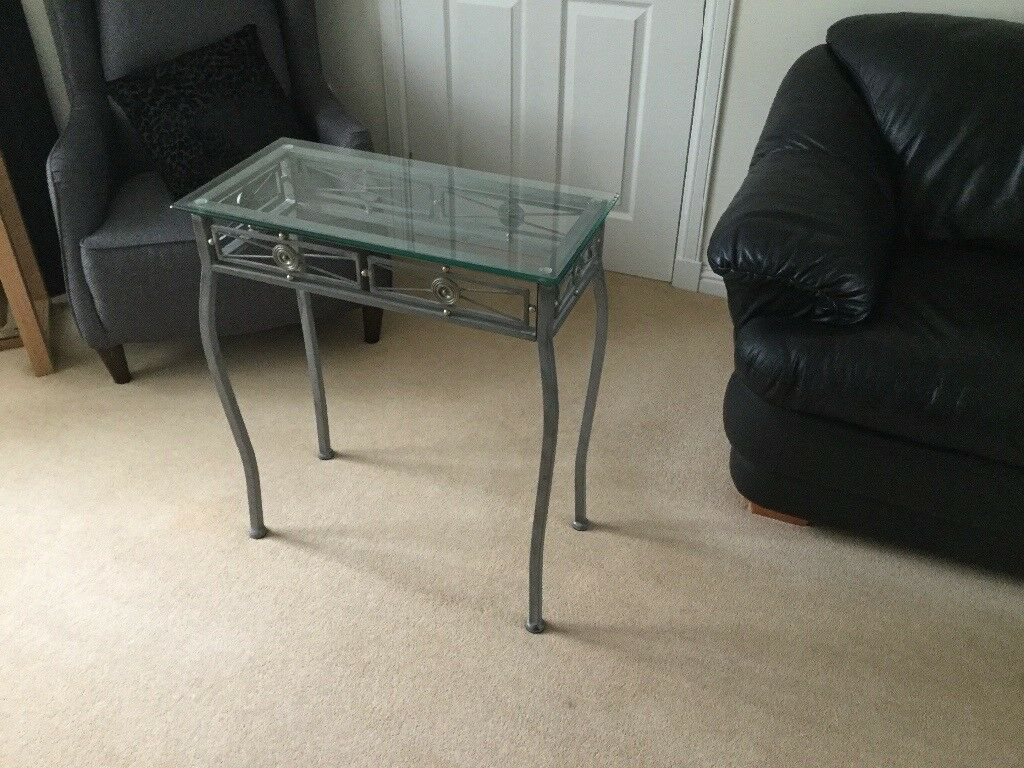 Wrought iron/glass console table