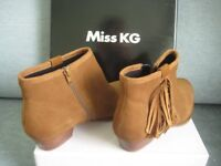 Ladies tan suede ankle boots