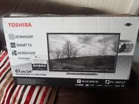 TOSHIBA 24inch Smart LED TV with Built-in WiFi, FreeView & DVD Player