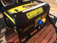 Champion CPG3500 4 stroke 196cc petrol generator. As new. 2800w.