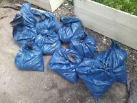 10 bags of gravel/mud/fee bits of hardcore