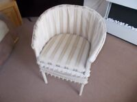Fabric Lined Commode Chair Good condition