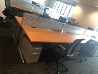 office furniture 1.6 meter herman mill bench desking