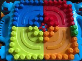 Mega Bloks Table with Blocks