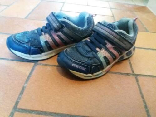 big sale 968cb 13b7a Geox Blinkies 28 blau Glitzer Sneaker