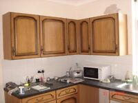 Kitchen wall and base / floor units with doors.