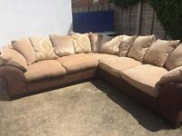 Dfs large corner sofa. Excellent condition. Can deliver