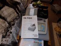 Casio Heavy Duty Programmable Cash Register EPOS Casio TK – T200 Model £100