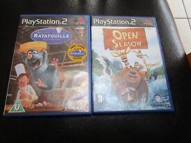 Two Playstation 2 Games, Disney.Pixar Ratatouille And Open Season