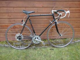 Raleigh road bike vintage retro 27 inch wheels, 10 gears, 24 inch frame