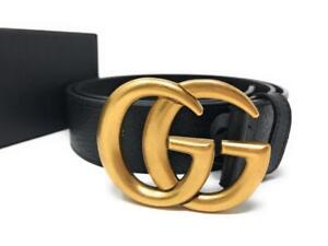 Gucci GG Real Leather Belts Gold Silver Buckles ( More Styles Brands Colors Available)