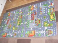 Children's road car mat