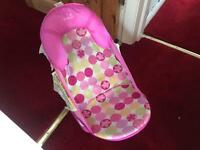 Baby girls bath seat
