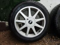 TOYOTA RAV 4 ALLOY WHEELS IN VIRTUALLY NEW CONDITION WITH ALL MATCHING LITTLE USED TYRES