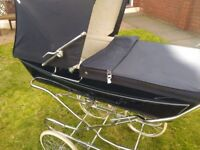 Silver Cross Coach Built Baby Carriage/pram with hood and top cover. The Rolls Royce of prams.