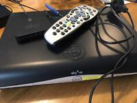 Sky plus HD box with remote and wifi
