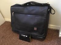 Knomo London Saxby Messenger Bag - black matte