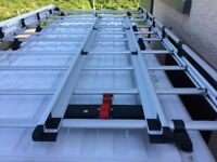 Fiat Ducato XLWB Rhino professional Aluminium roofrack and ladder