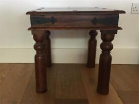 Sheesham wood side table/lamp table/coffee table