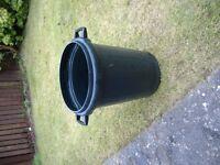 Black Rubbish Bin